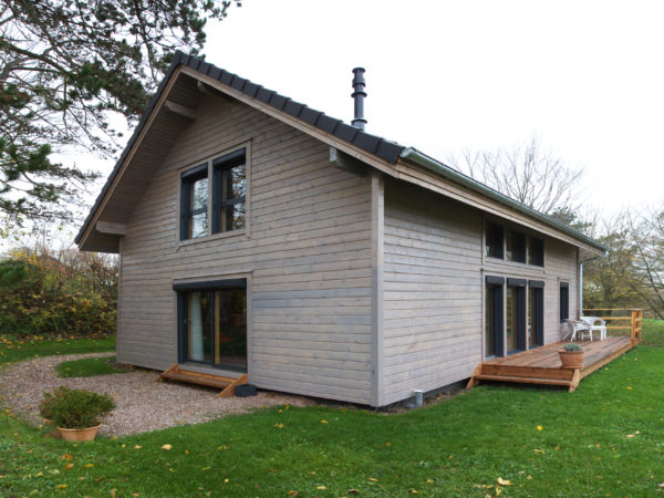 Ossature bois chalet traditionnel